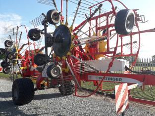 Used Pottinger 1252C 4 rotor rake