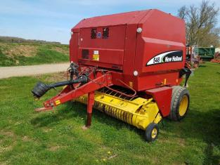 NEW HOLLAND 548 Round Baler, 2003, Rotafeed, 2 metre Pick-Up