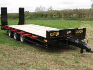 HERBST Lowloader 26ft Tri-Axle Heavy Duty Plant Trailer, 26ft, 33 tonne gross, 26.5 tonne carry, New