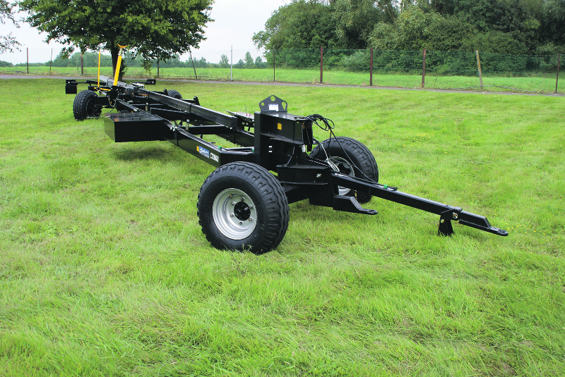 New trailer design improves safety and speed of wide combine header transport